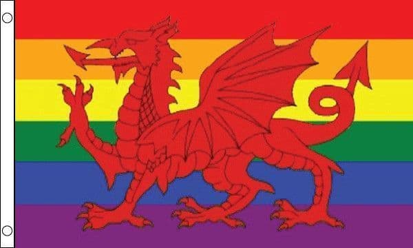 Rainbow with Wales Flag